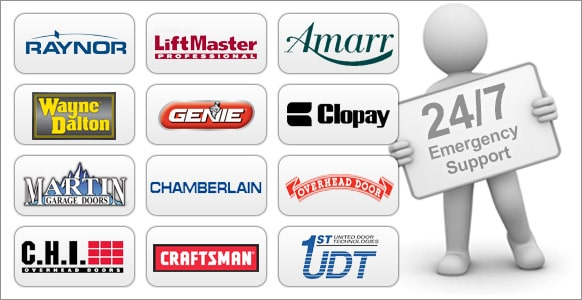 Logos of overhead door manufacturer